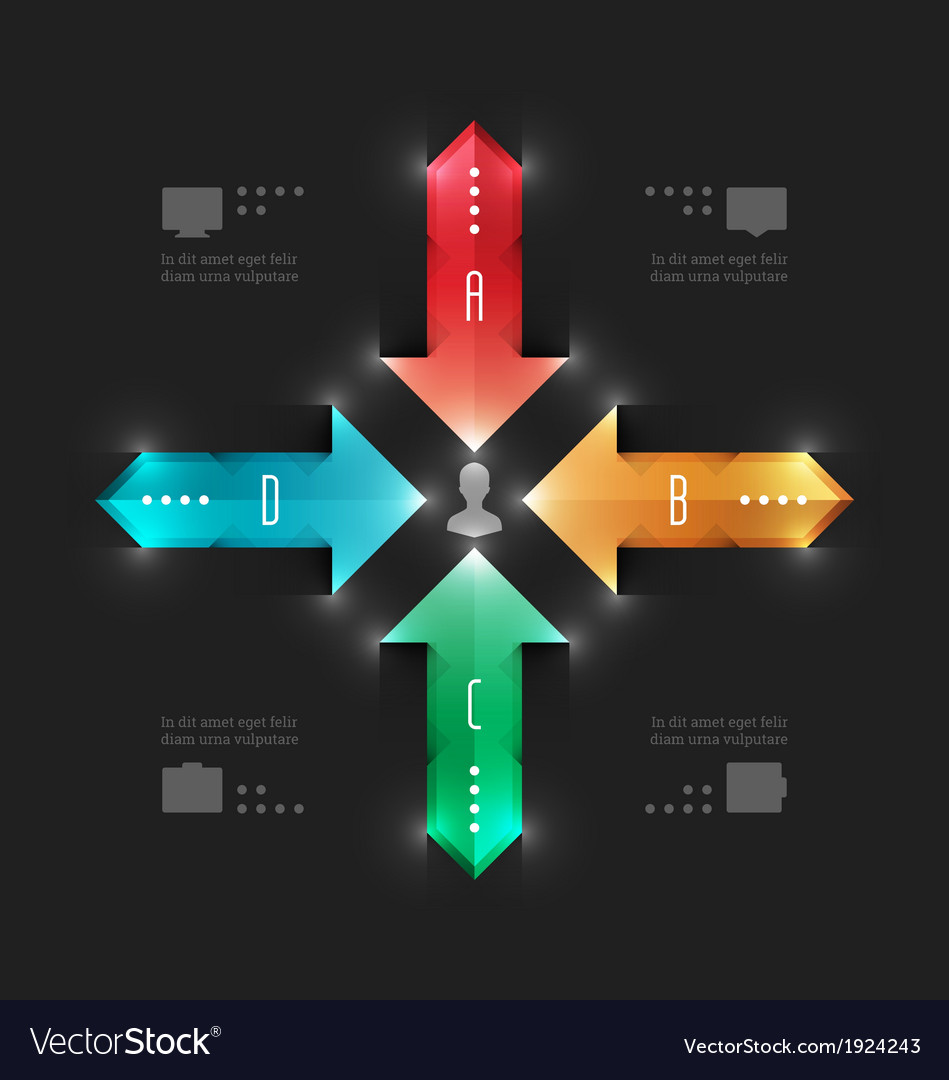 Modern infographics workflow arrows diagram vector | Price: 1 Credit (USD $1)