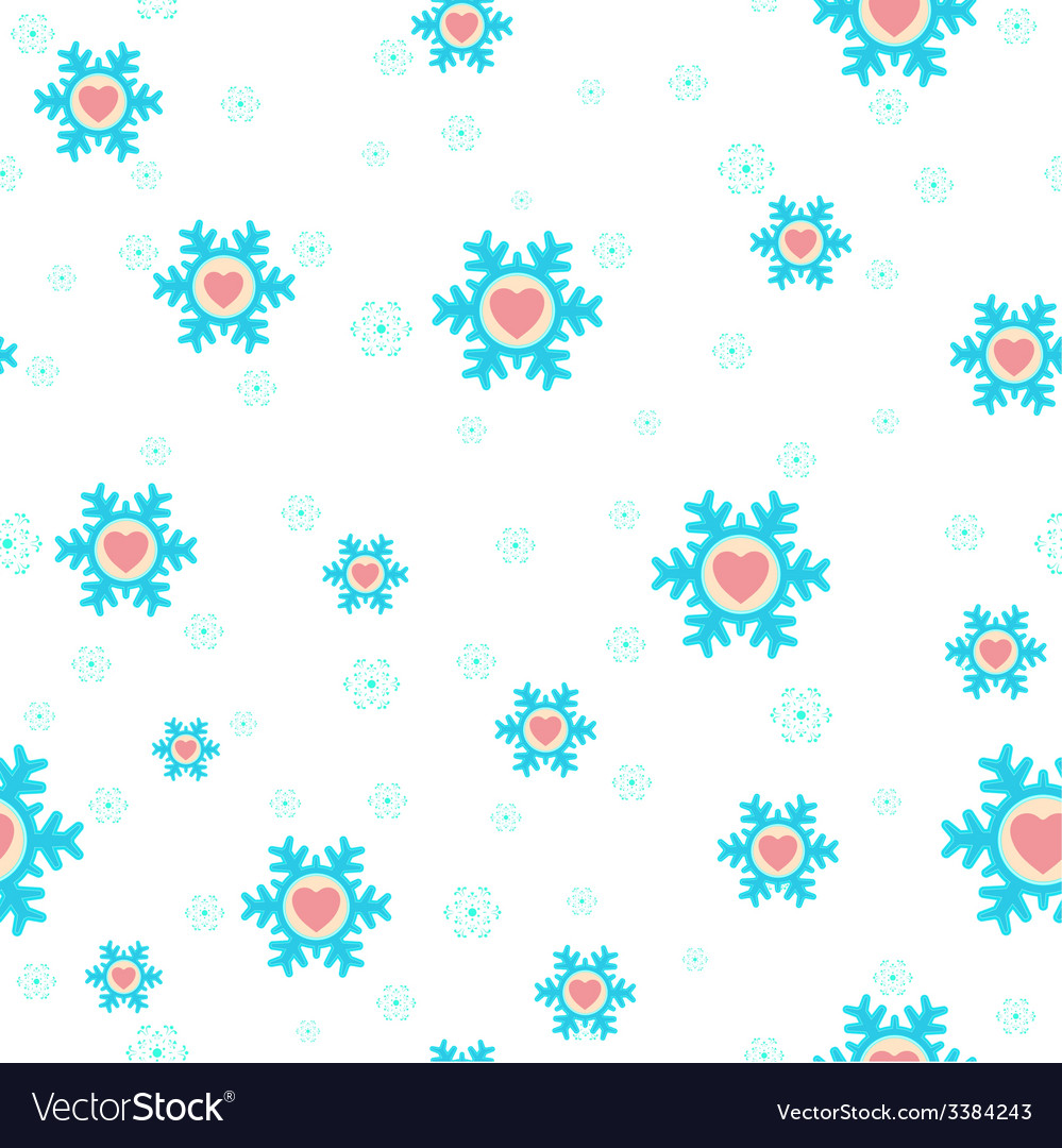 Seamless christmas background with snowflakes and vector | Price: 1 Credit (USD $1)