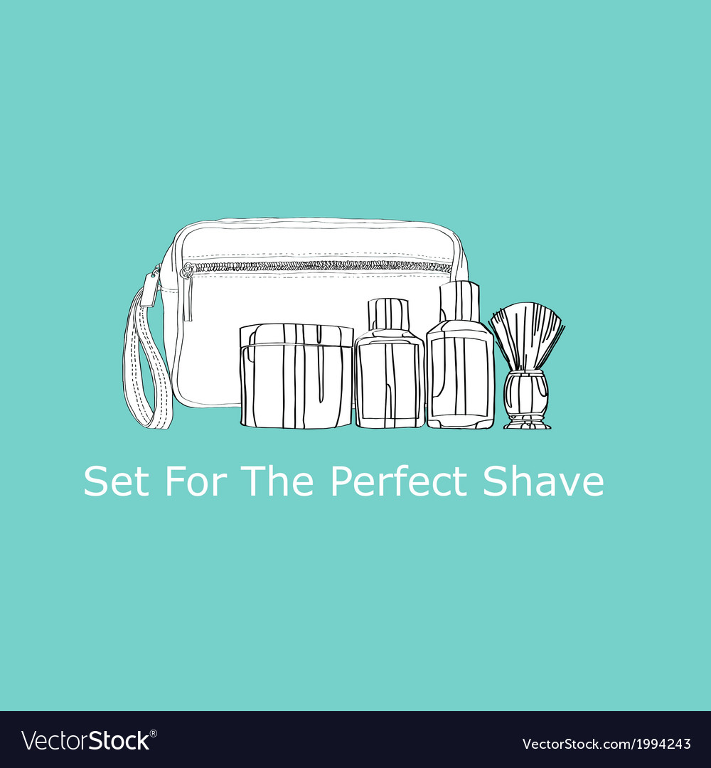 Set for the perfect shave vector | Price: 1 Credit (USD $1)