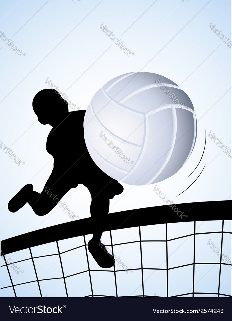 Volleyball player vector | Price: 1 Credit (USD $1)