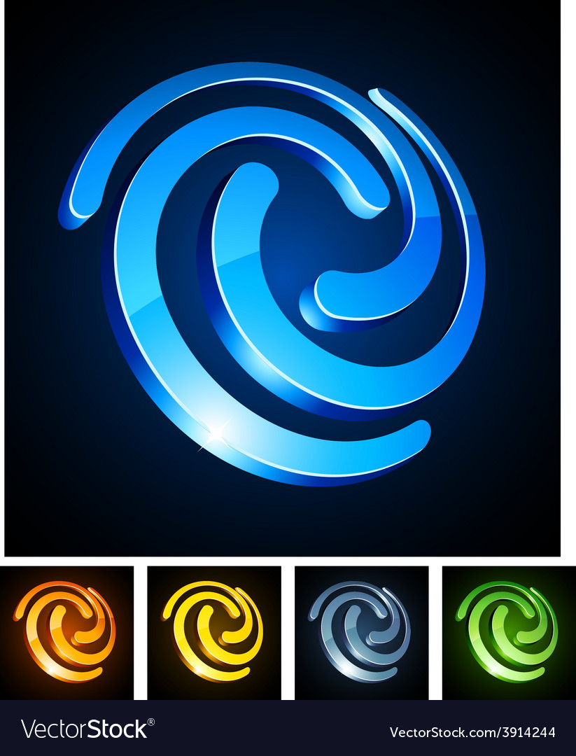 3d swirl emblems vector | Price: 1 Credit (USD $1)