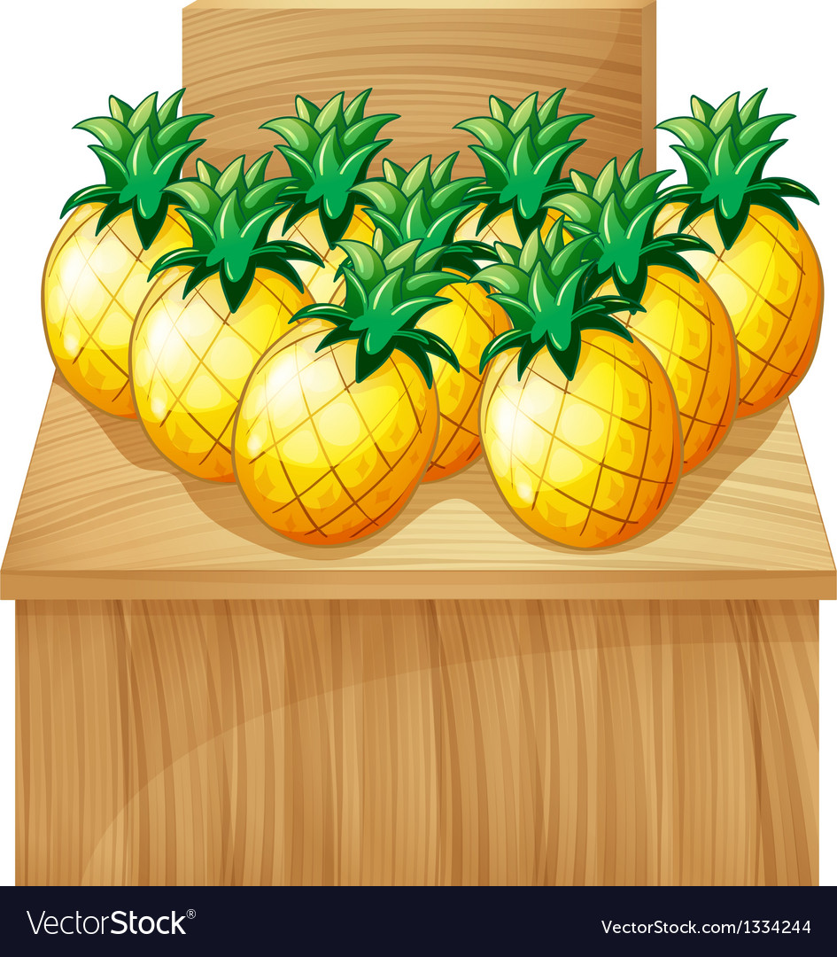 A pineapple fruitstand with an empty board vector | Price: 1 Credit (USD $1)