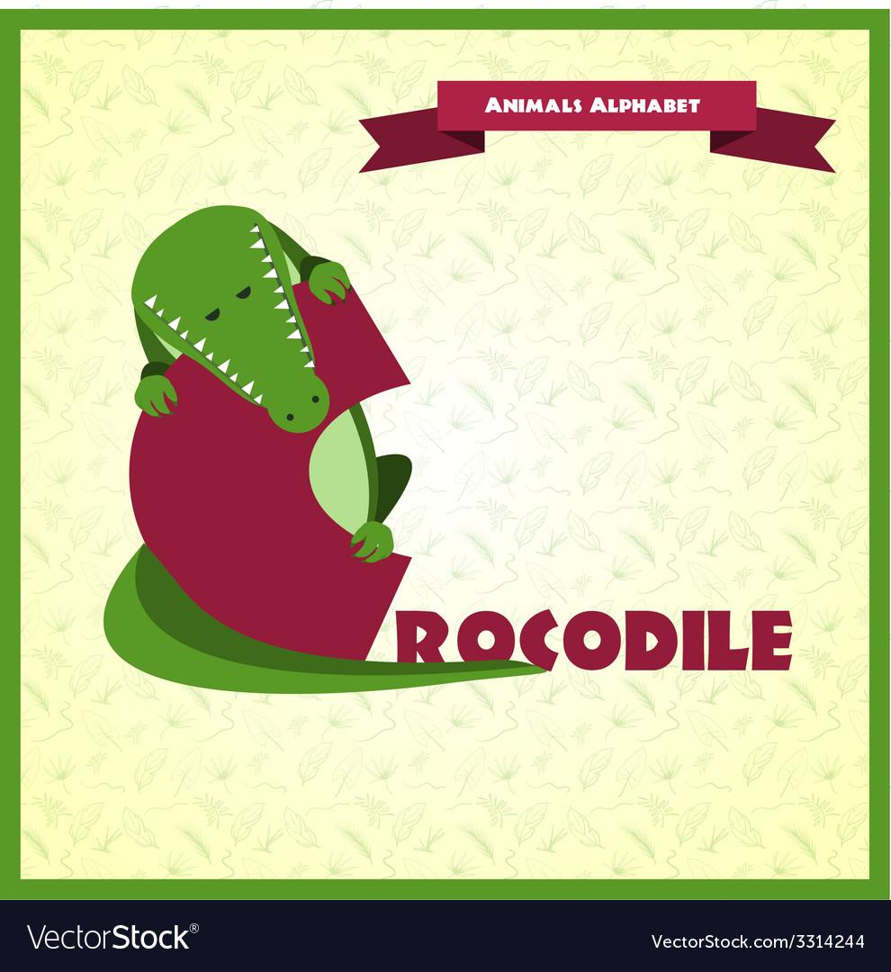 Alphabet letter c and crocodile vector | Price: 1 Credit (USD $1)