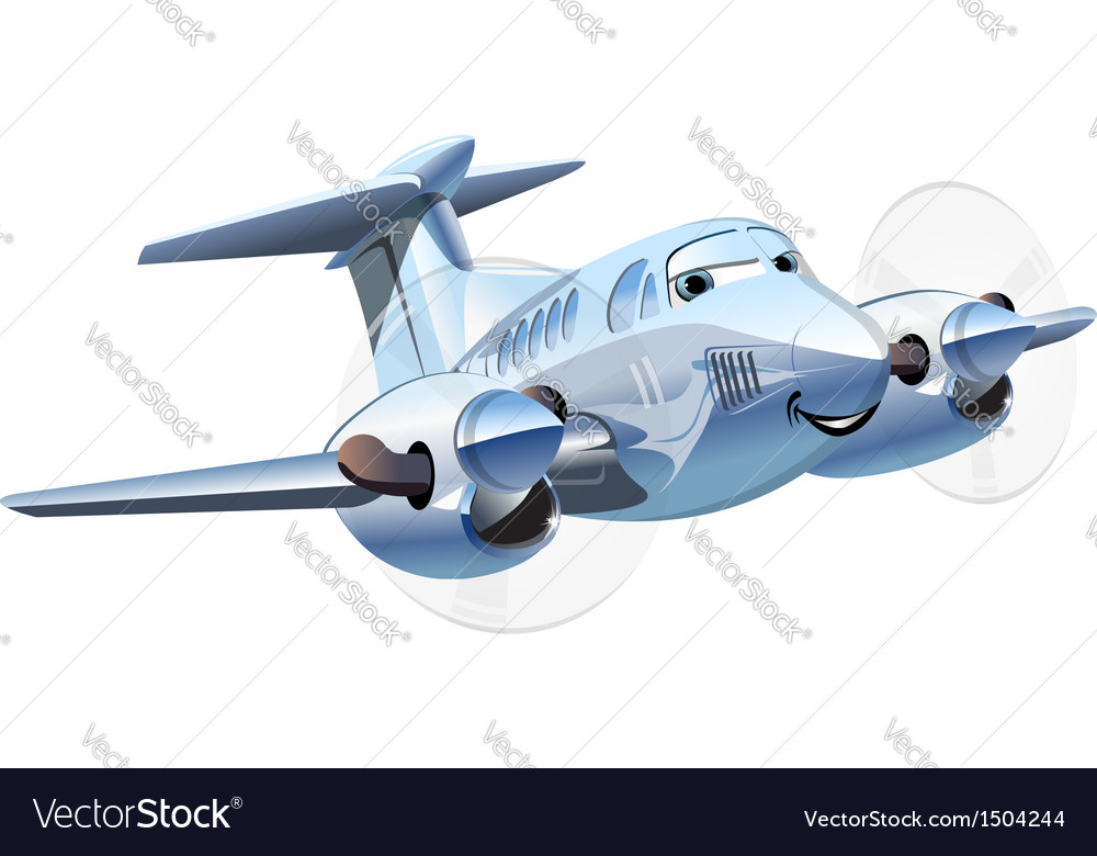 Cartoon airplane vector | Price: 3 Credit (USD $3)