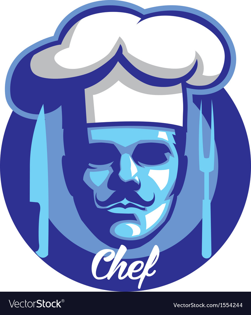 Chef face mascot vector | Price: 1 Credit (USD $1)