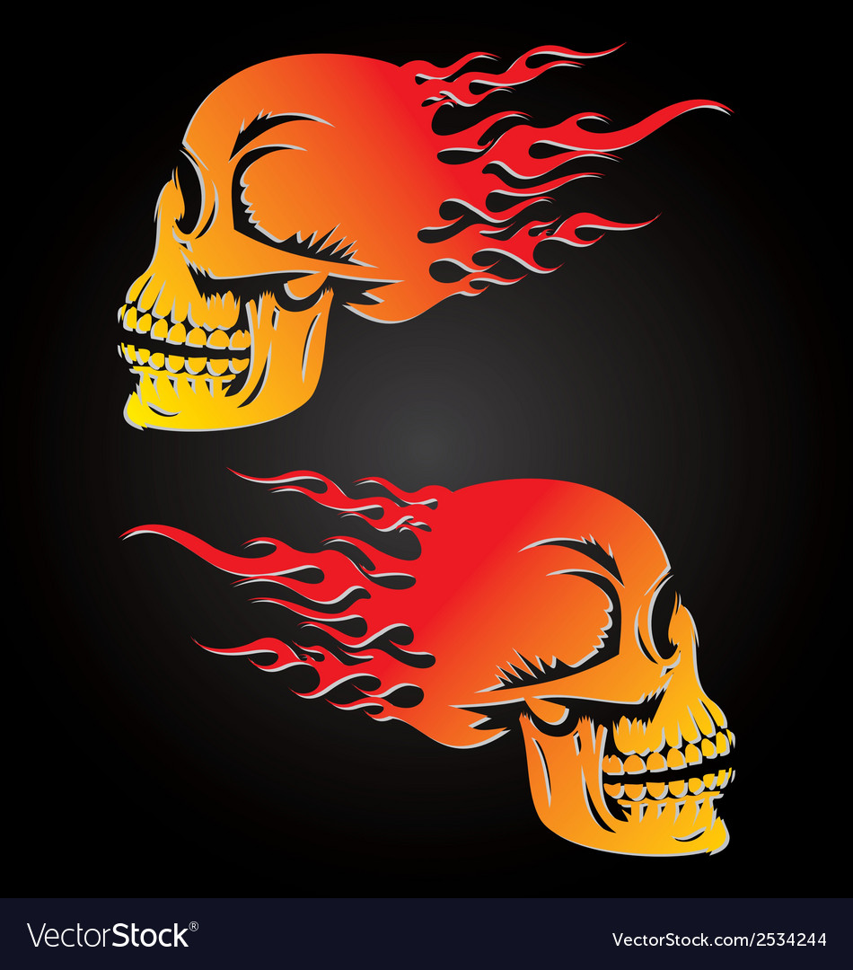 Fire skulls vector | Price: 1 Credit (USD $1)