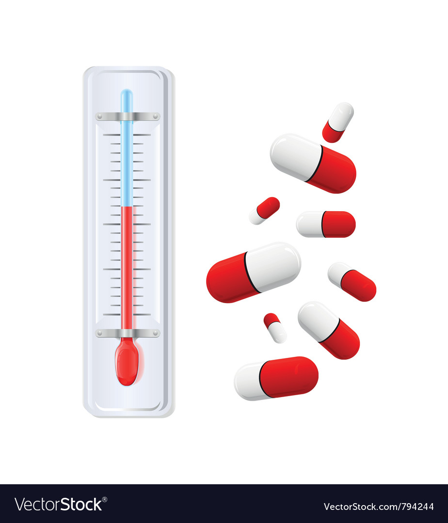 Thermometer with red indicato vector | Price: 1 Credit (USD $1)