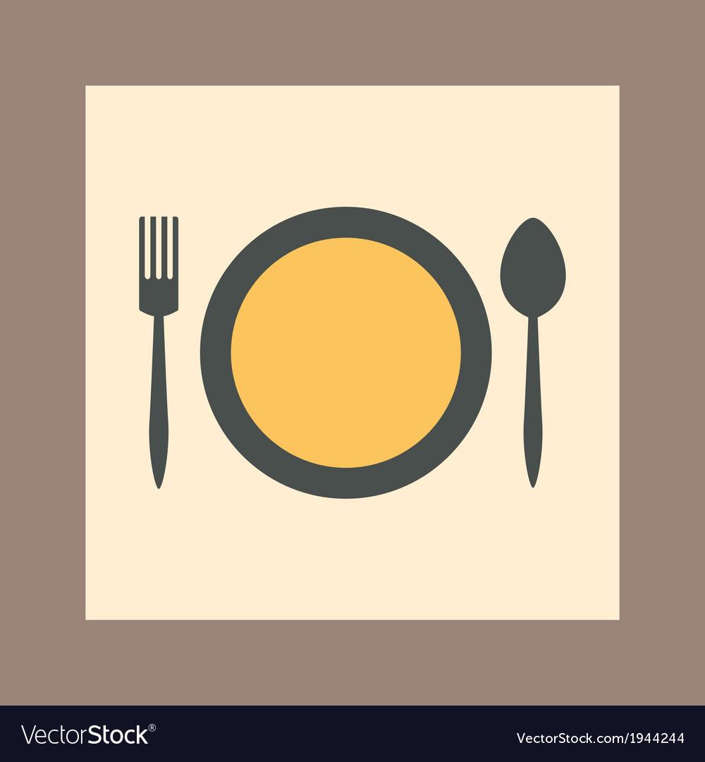 Tableware icon vector | Price: 1 Credit (USD $1)