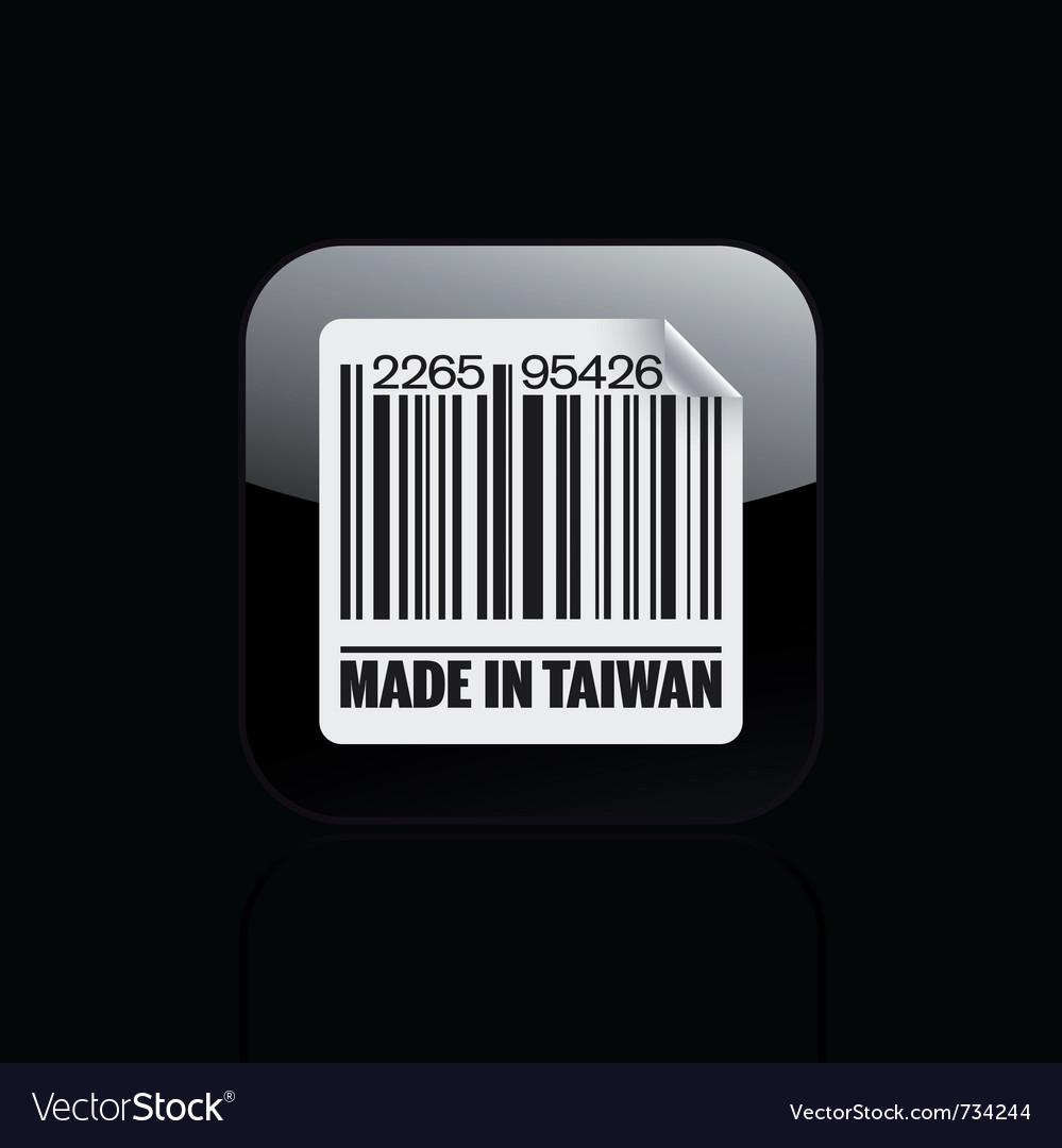 Taiwan icon vector | Price: 1 Credit (USD $1)