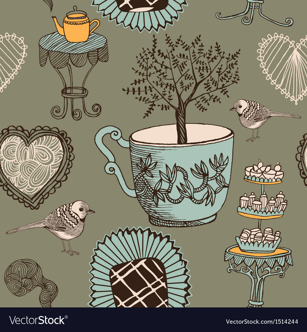 Tea and sweets vector | Price: 3 Credit (USD $3)