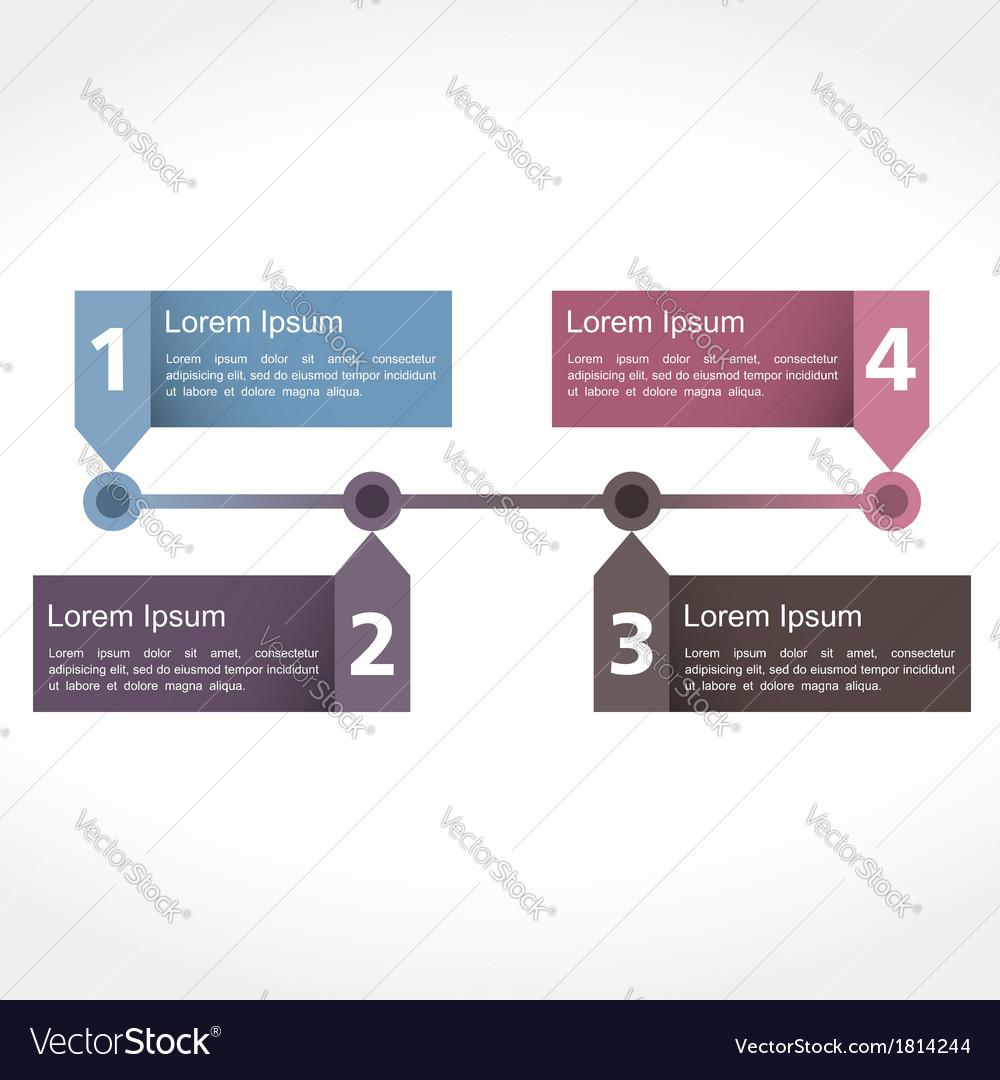 Timeline design vector | Price: 1 Credit (USD $1)