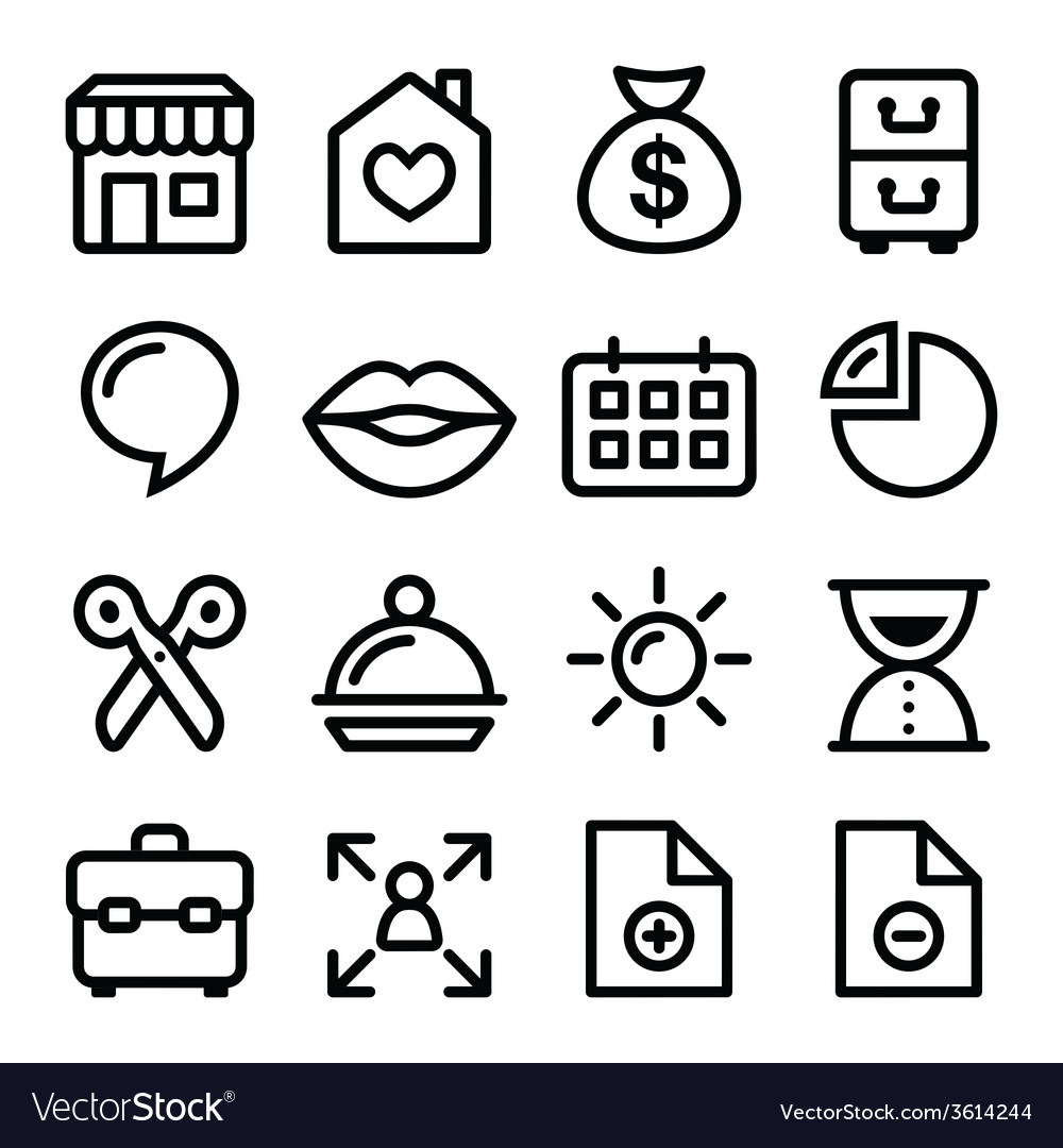 Website menu navigation line icons - online shop vector | Price: 1 Credit (USD $1)