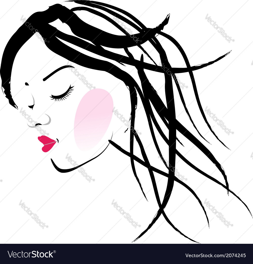 A lady with dreadlocks- dreadlock fashion graphic vector | Price: 1 Credit (USD $1)