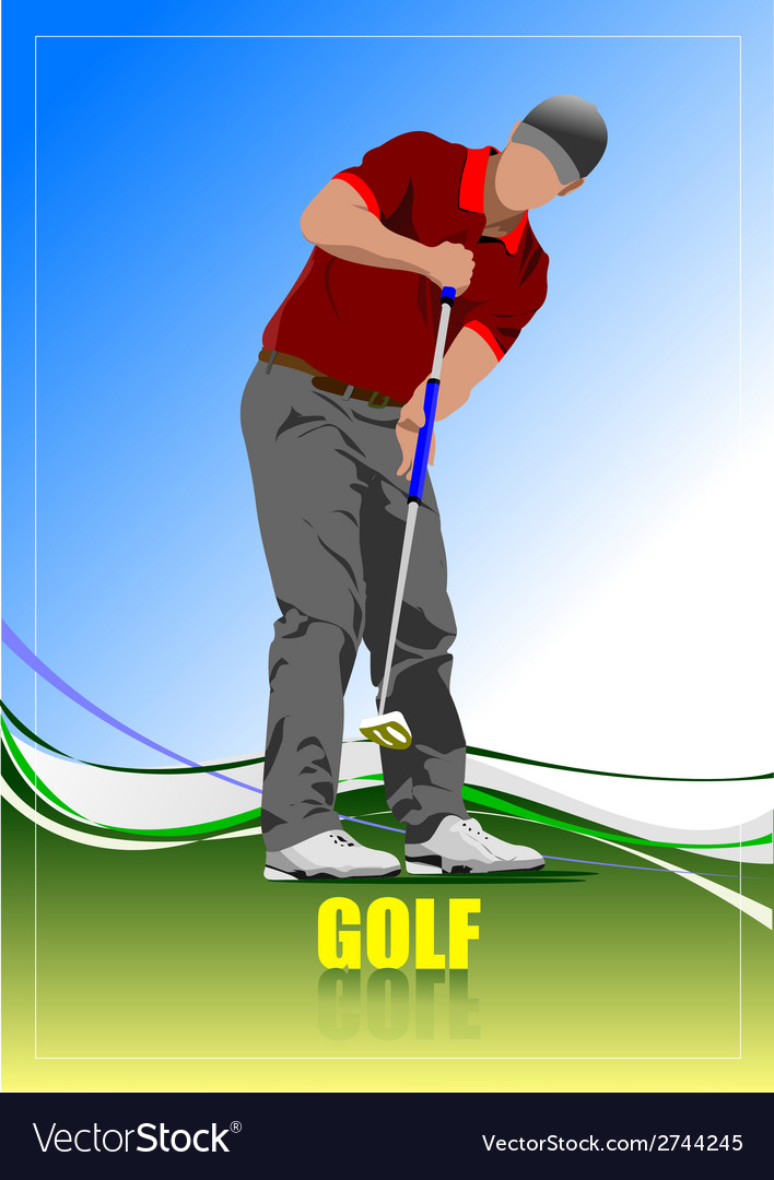 Al 0612 golfer 03 vector | Price: 1 Credit (USD $1)