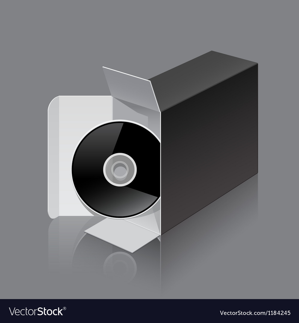 Black package box opened lying on its side with vector | Price: 3 Credit (USD $3)