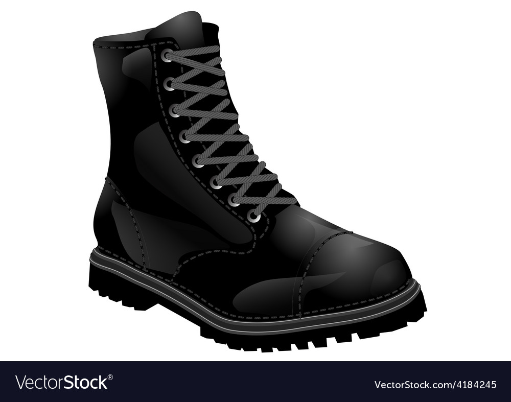 Boots army vector | Price: 1 Credit (USD $1)