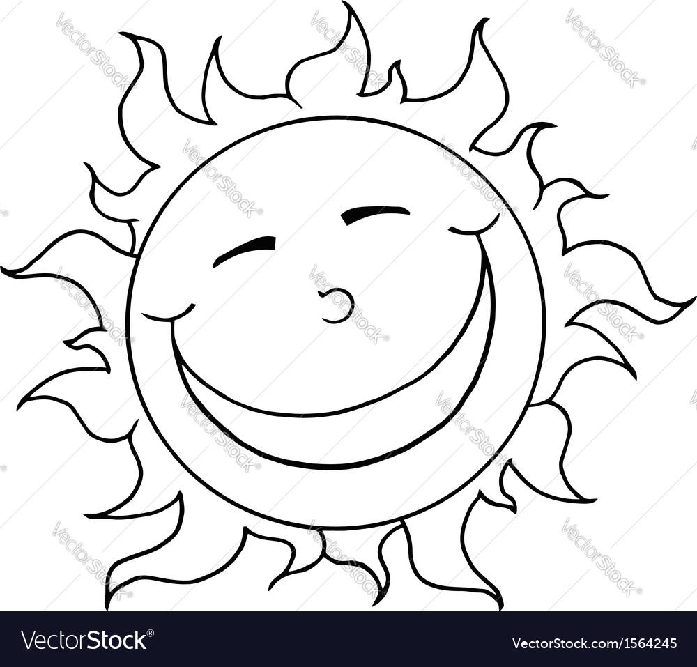 Cartoon sun vector   Price: 1 Credit (USD $1)