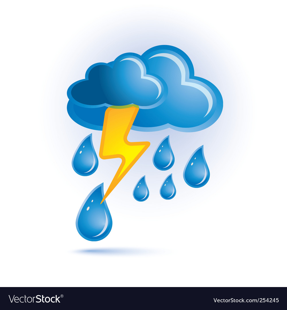 Cloud and lightning vector | Price: 1 Credit (USD $1)