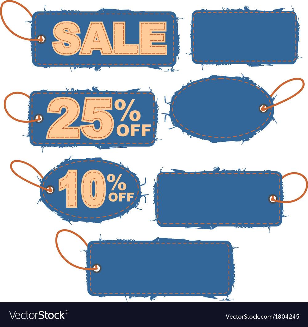 Grunge sale tag vector | Price: 1 Credit (USD $1)