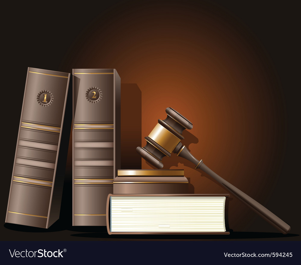 Judge gavel and book of law vector | Price: 3 Credit (USD $3)