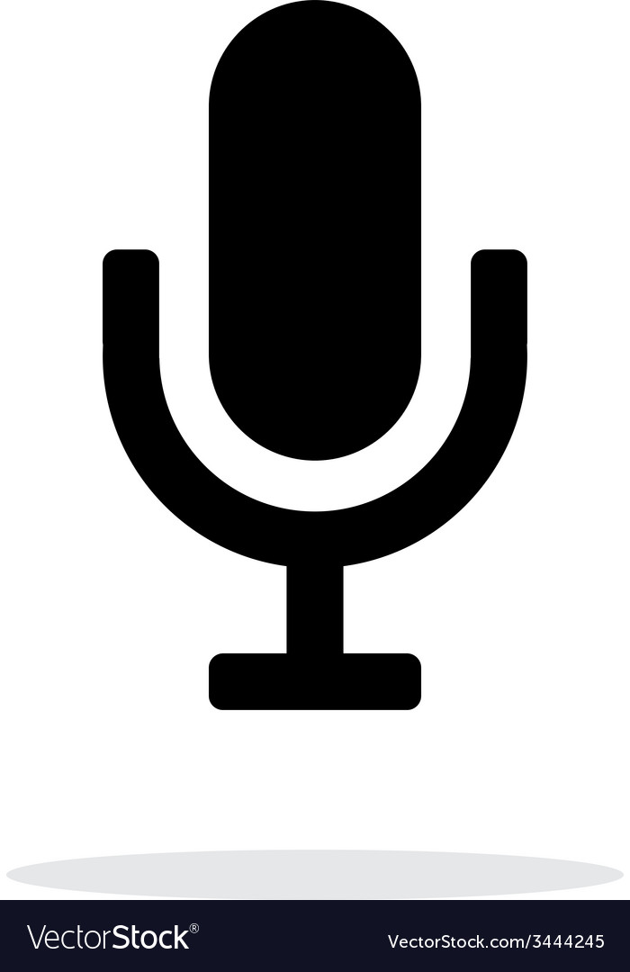 Microphone icon on white background vector | Price: 1 Credit (USD $1)