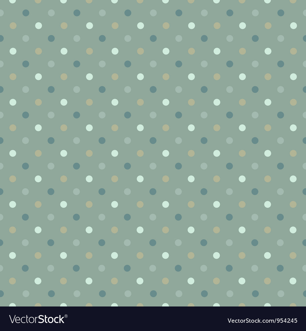 Seamless polka dot pattern cold gree gamut vector | Price: 1 Credit (USD $1)
