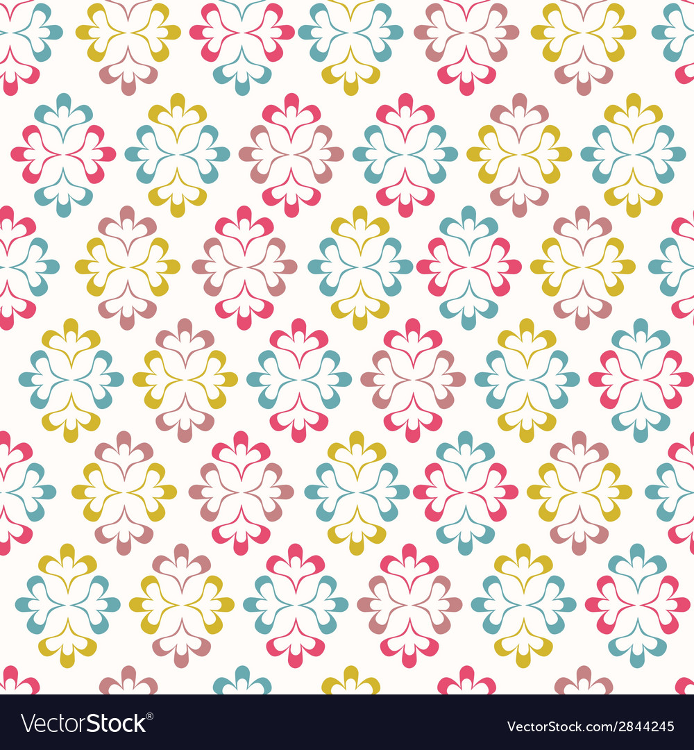 Seamless wallpaper with abstract ornament vector | Price: 1 Credit (USD $1)
