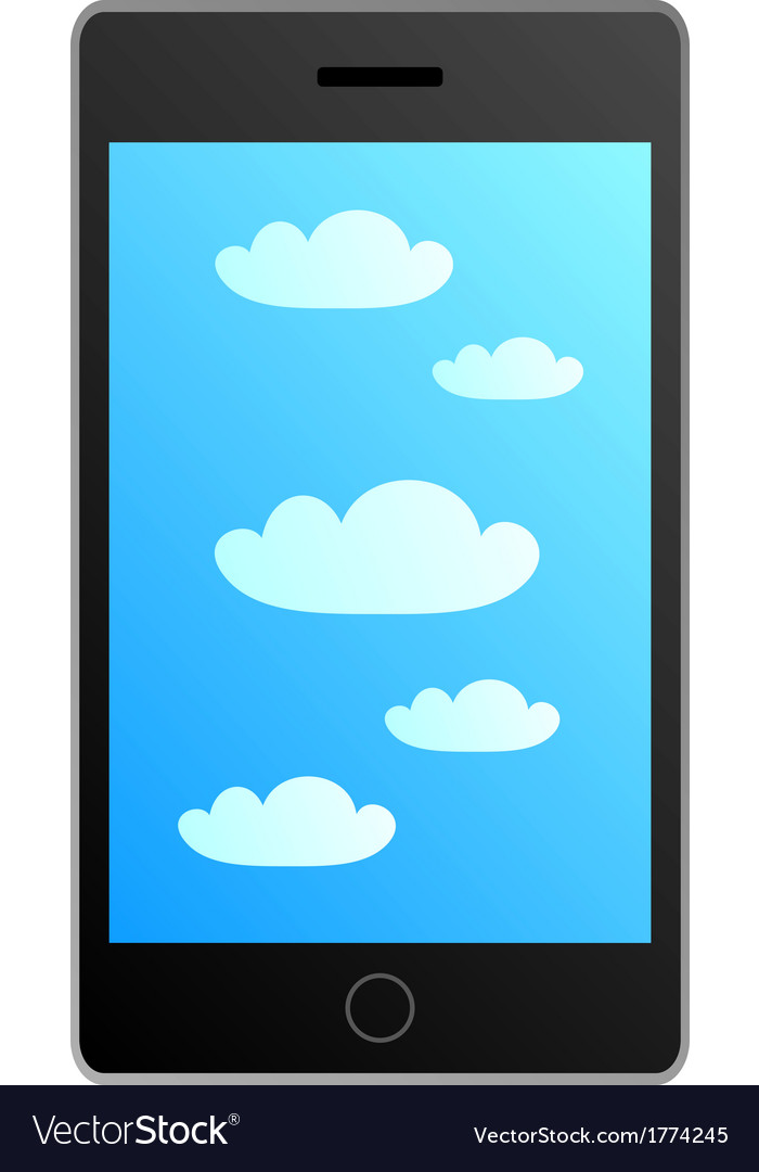 Smartphone in cloud vector | Price: 1 Credit (USD $1)