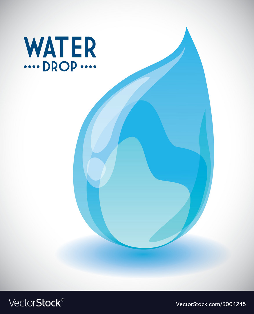 Water drop design vector | Price: 1 Credit (USD $1)