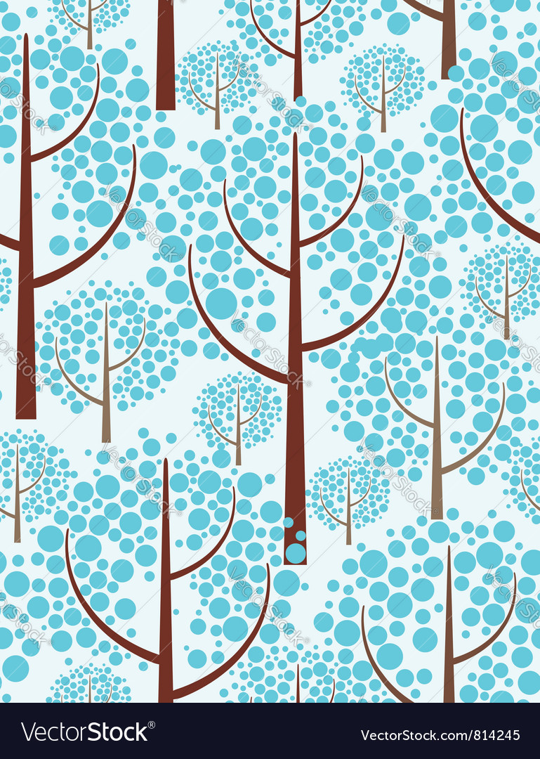 Winter forest - seamless background vector | Price: 1 Credit (USD $1)