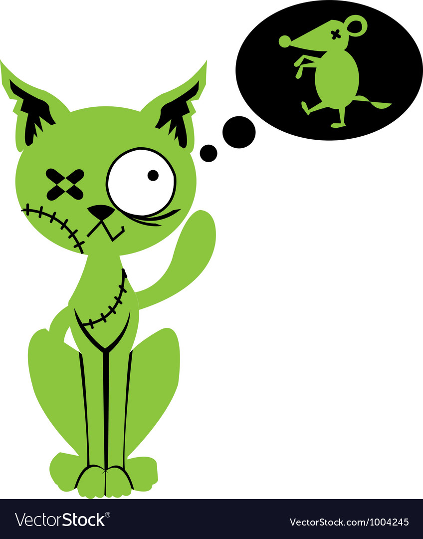 Zombie cat vector | Price: 1 Credit (USD $1)