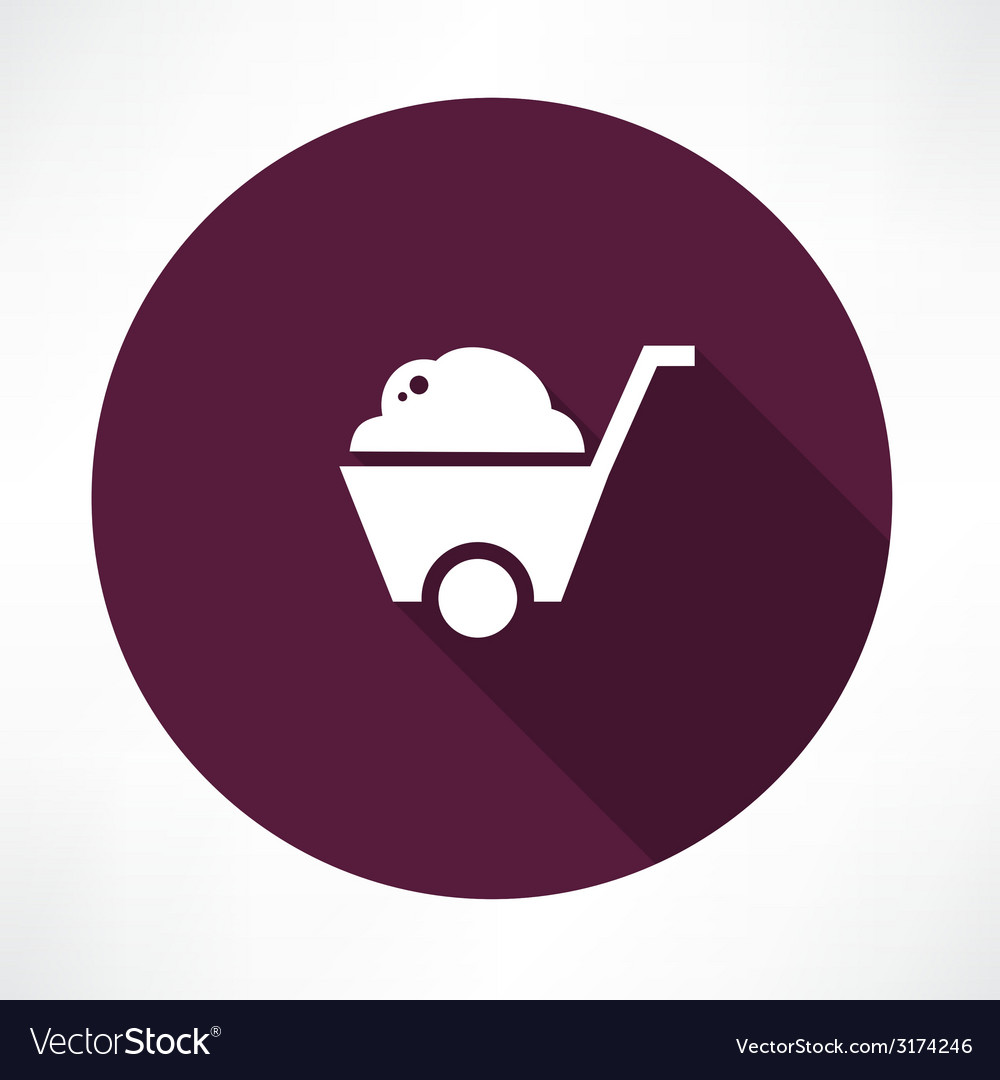 Barrow full of ground icon vector | Price: 1 Credit (USD $1)