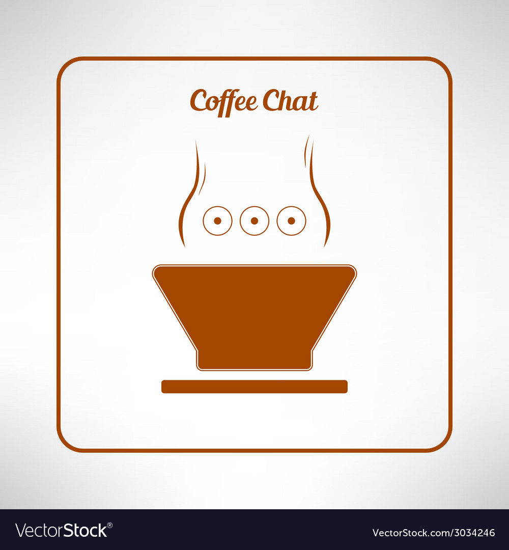 Brown coffee cup made in modern flat design cafe vector | Price: 1 Credit (USD $1)