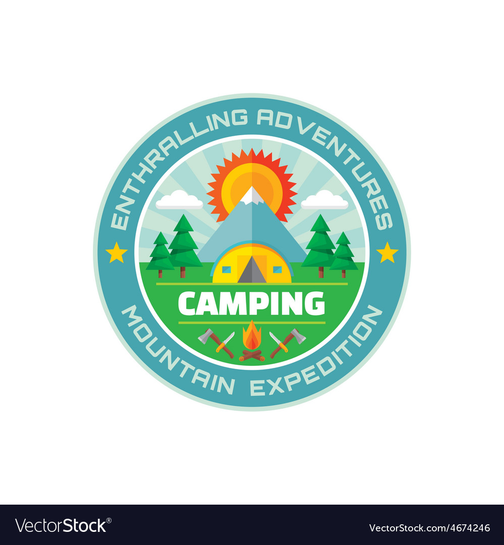 Camping - enthralling adventures - mountain vector | Price: 1 Credit (USD $1)