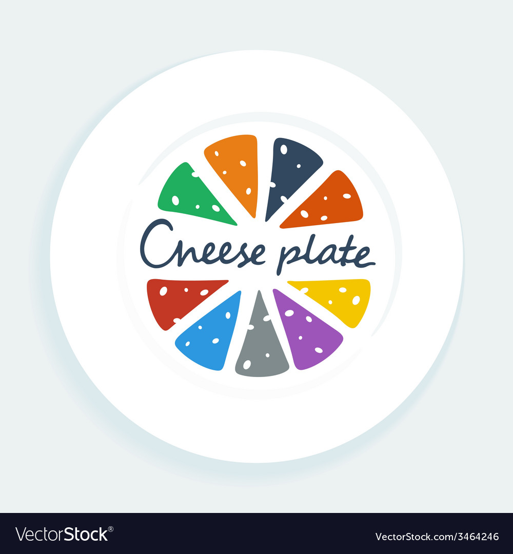 Cheese plate vector | Price: 1 Credit (USD $1)