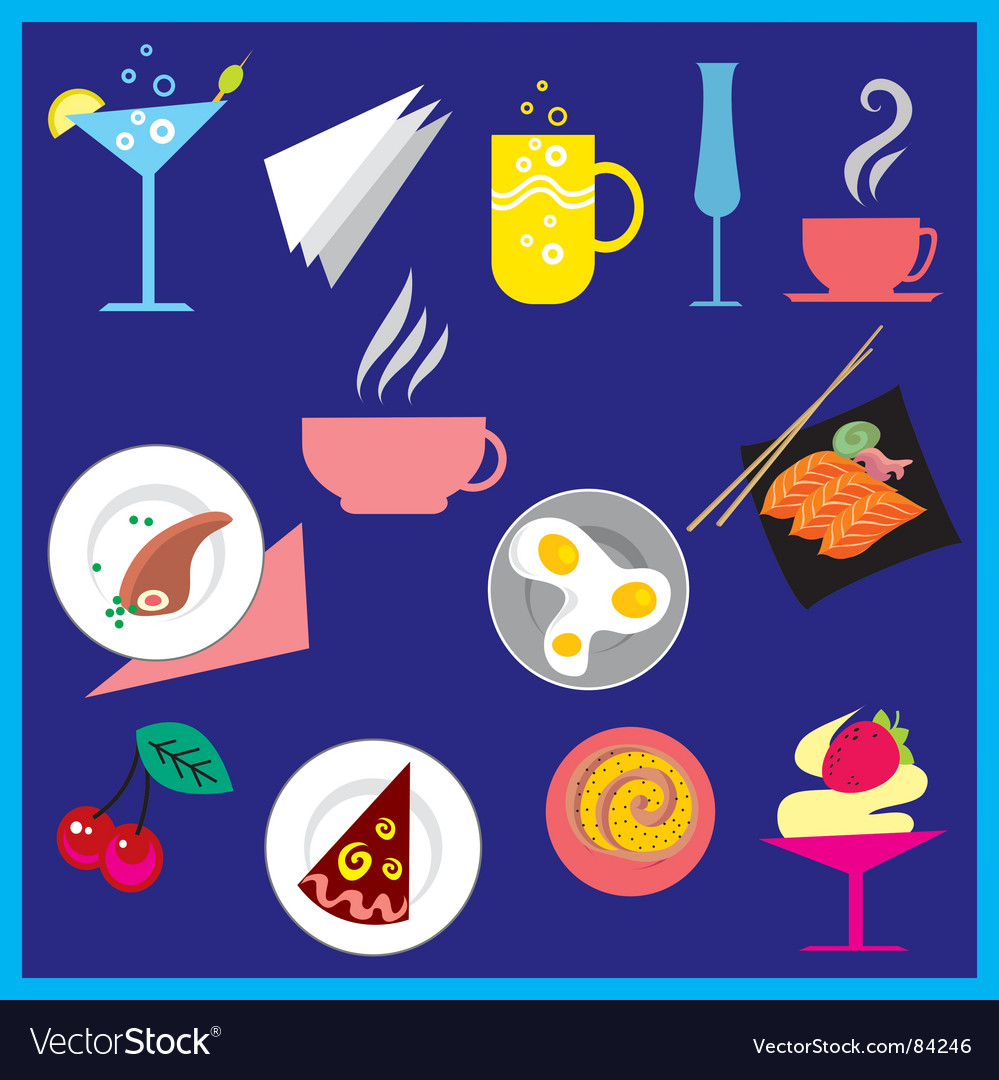 Food and drink vector | Price: 1 Credit (USD $1)