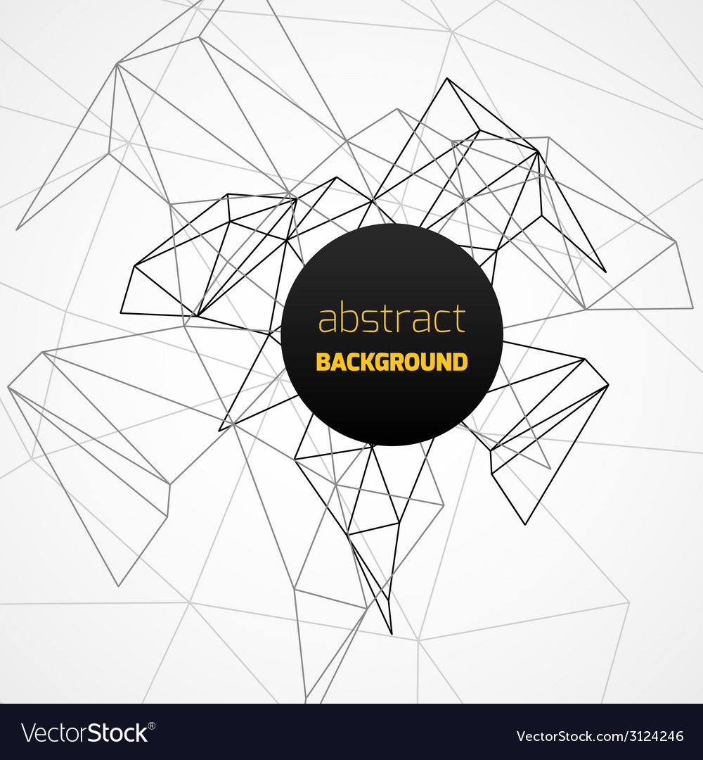 Geometrical background with black lines vector | Price: 1 Credit (USD $1)