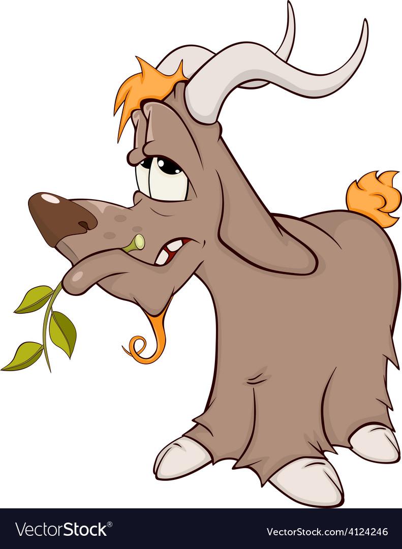 Goat cartoon vector | Price: 1 Credit (USD $1)