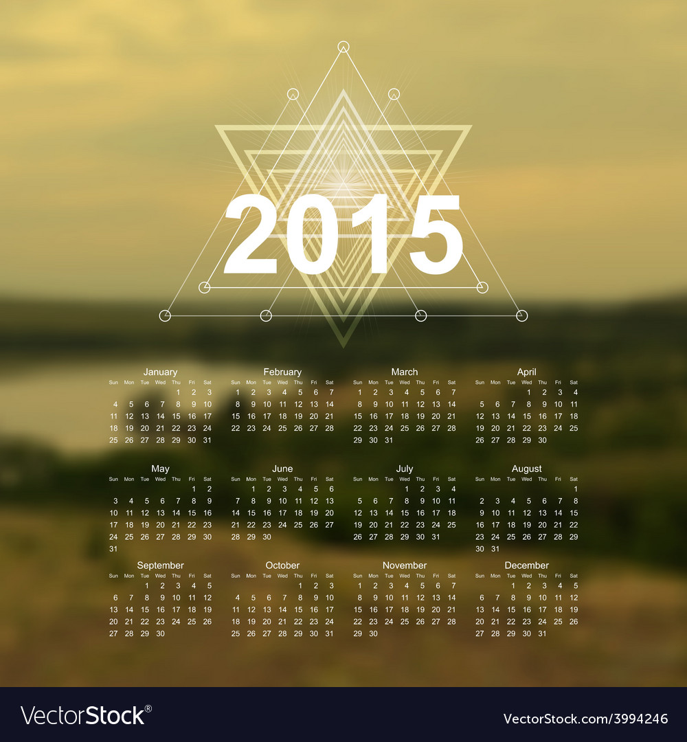 The great outdoors calendar vector | Price: 1 Credit (USD $1)