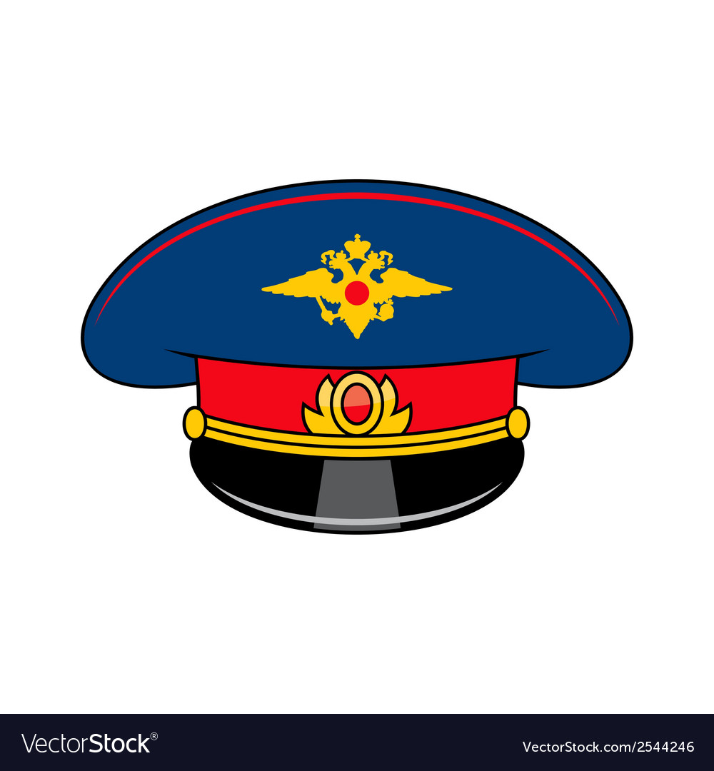 Russia police cap vector | Price: 1 Credit (USD $1)