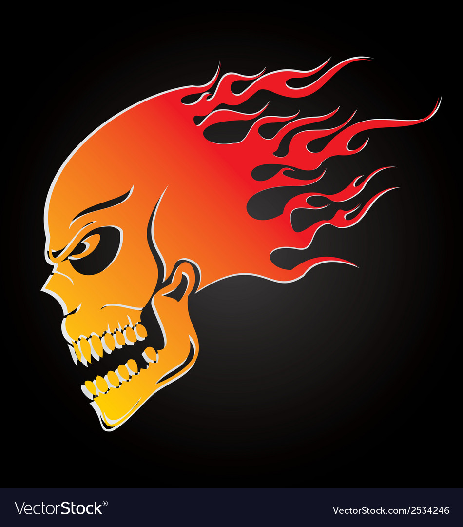 Skull fire vector | Price: 1 Credit (USD $1)