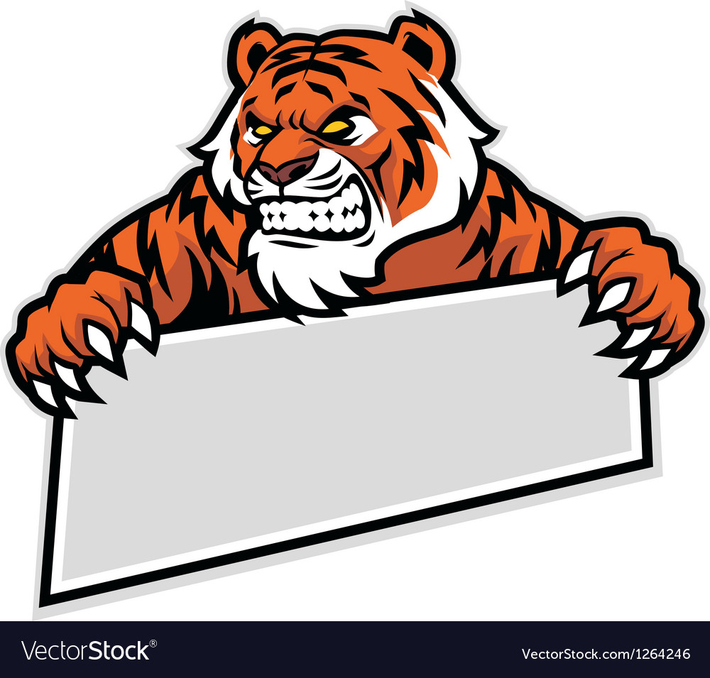 Tiger grip the banner vector | Price: 1 Credit (USD $1)