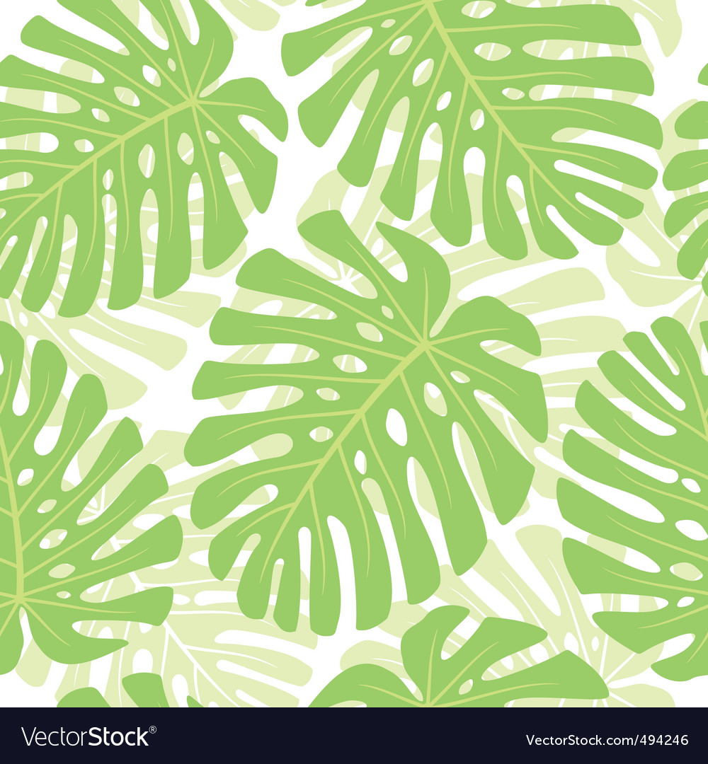 Tropical plant background vector | Price: 1 Credit (USD $1)
