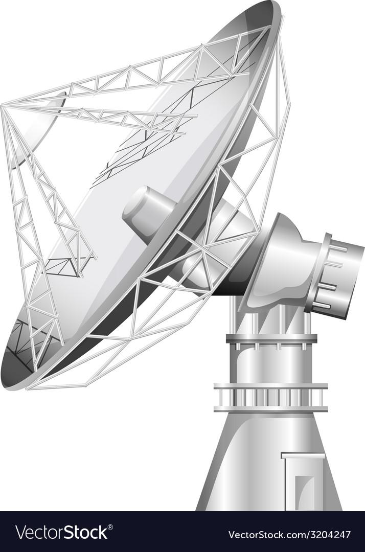A grey satellite vector   Price: 1 Credit (USD $1)