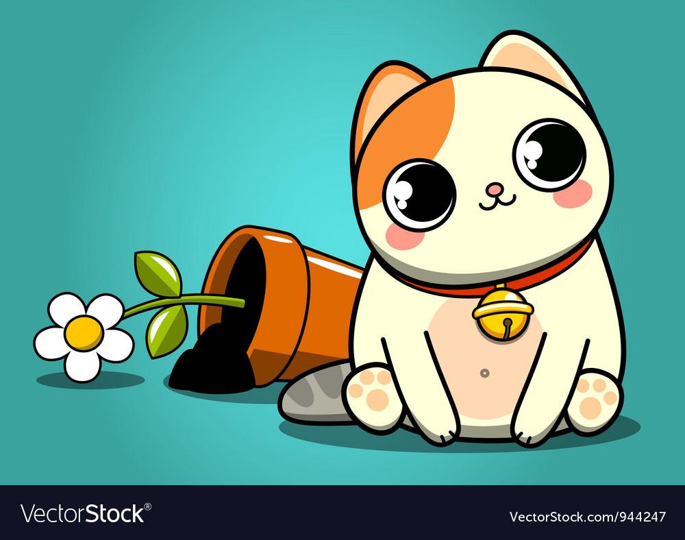 Bad kitten vector | Price: 3 Credit (USD $3)