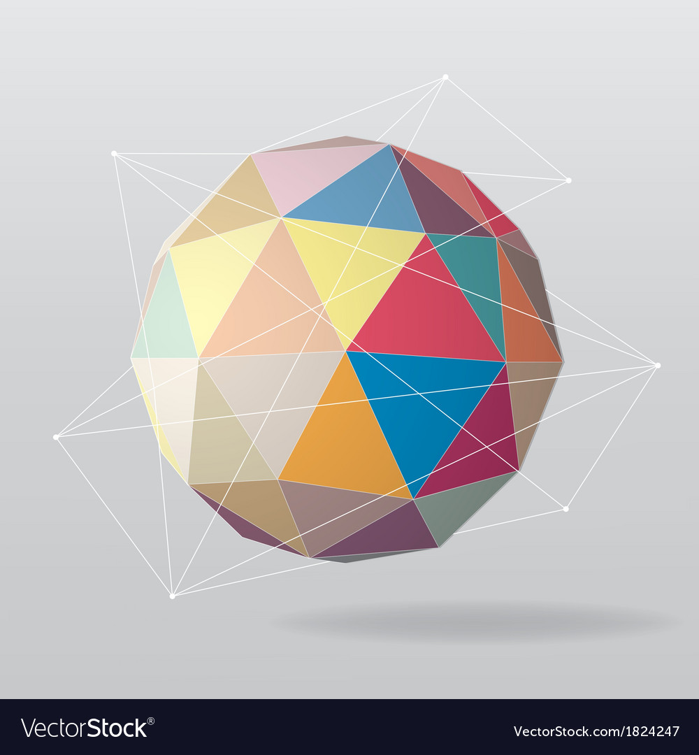 Colorful globe geometrical background vector | Price: 1 Credit (USD $1)