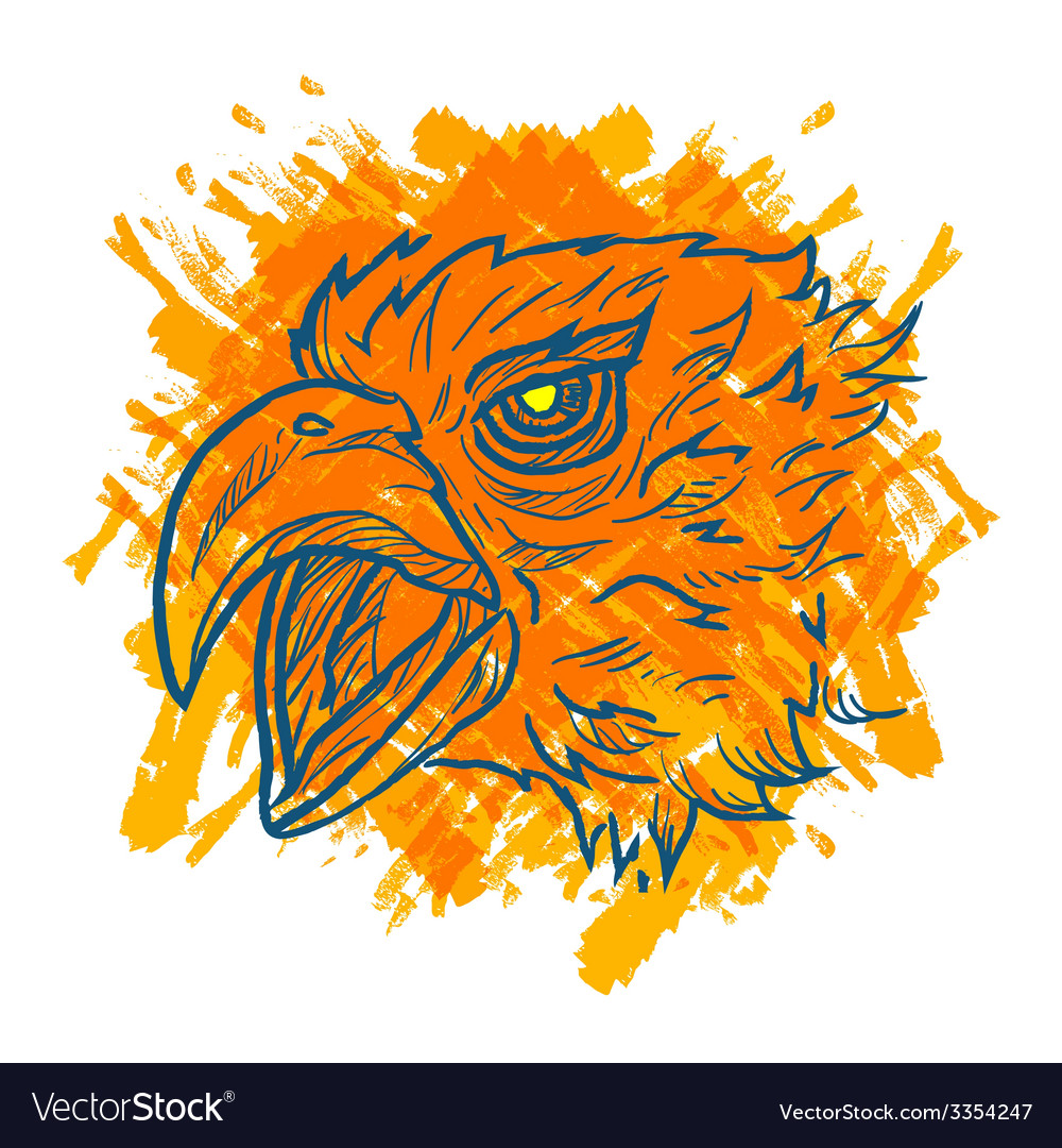 Eagle art fire vector | Price: 1 Credit (USD $1)