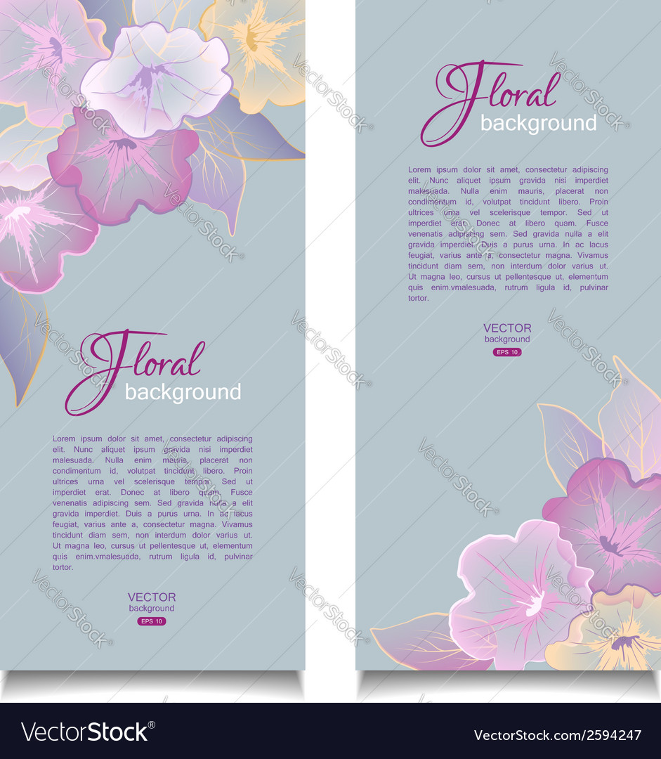 Floral banners transparent flowers vector | Price: 1 Credit (USD $1)