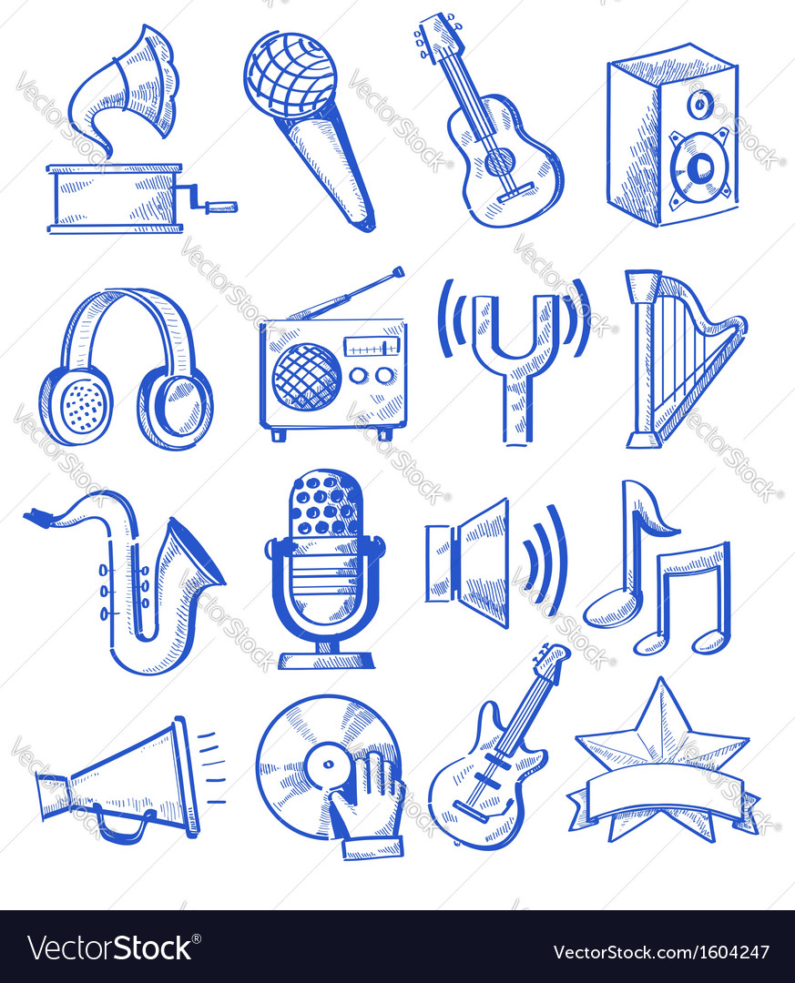 Hand drawn music vector | Price: 1 Credit (USD $1)