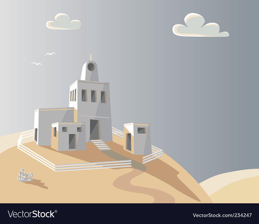 Hill house vector | Price: 1 Credit (USD $1)